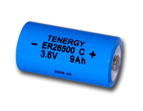 Primary Lithium Thionyl chloride Battery C Size 3.6V 9.0 Ah , same as LS26500 and ER26500 (non Rechargeable)(DGR-A)