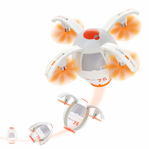 TDR Eggsplorer Flying Egg 2.4G RC Quadcopter Stunt Drone with Auto Hovering