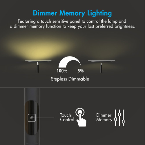 Tenergy 70 Quot Torchiere Dimmable Led Floor Lamp Tenergy