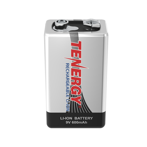 Tenergy 9V 600mAh Li-ion Rechargeable Battery