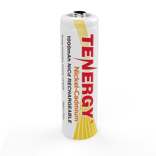 Tenergy AA 1000mAh NiCd Button Top Rechargeable Battery
