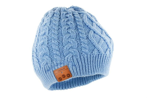 Tenergy Bluetooth Beanie - Braid Cable Knit (Color: Airy Blue)