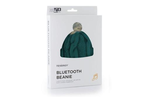 Tenergy Bluetooth Beanie with Pom-Pom (Color: Dark Green)