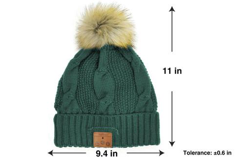 98643ddf4e2ae ... Tenergy Bluetooth Beanie with Pom-Pom (Color  Dark Green) ...