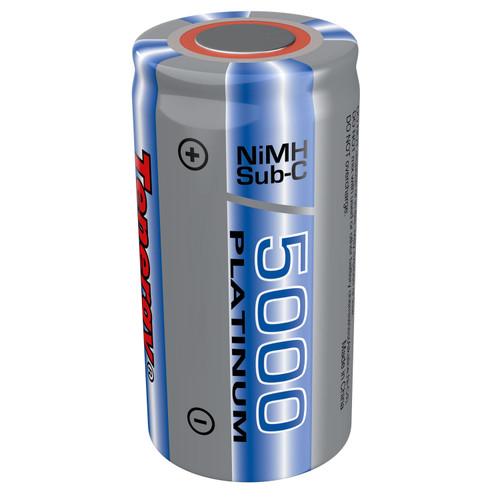 Tenergy Sub C 5000mAh NiMH Flat Top Rechargeable Battery