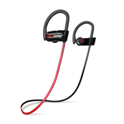 Tenergy T20 Wireless Sport Earphones Set, IPX7 Waterproof Bluetooth Earbuds w/ Mic, CVC Noise Cancelling, 8 Hours Battery, Bonus Sport Armband