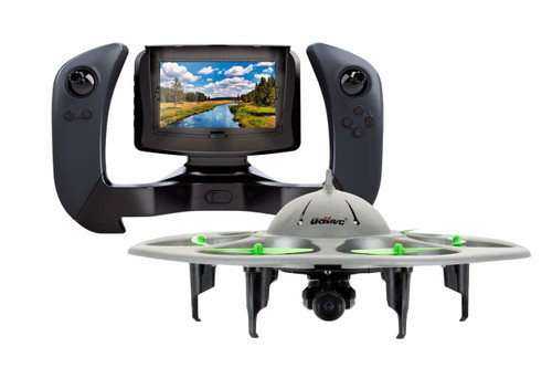 UDI U845 2.4Ghz UFO Voyager FPV Hexacopter RC Drone (4Ch 6-Axis) with Real-time Aerial Photography 720P HD Camera