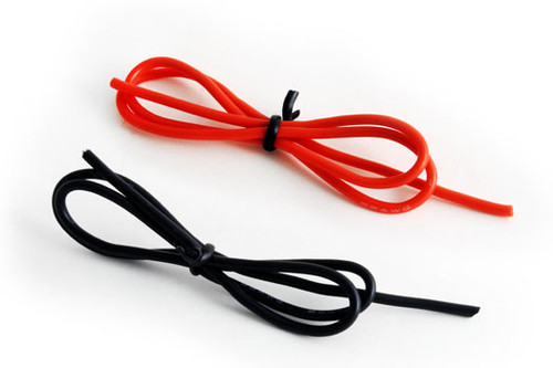 26 AWG PVC Wires 1 Foot (Black and Red Available)