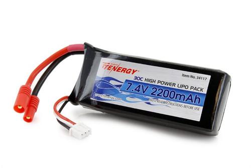 Tenergy 30C 7.4 V 2200mAh Replacement LiPo Battery for Syma X8C/X8W/X8G