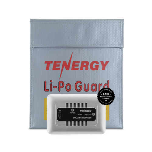 Tenergy TN267 1-4 Cells LiPO/LiFe Balance Charger and Lipo Safe Bag For Airsoft & RC Car Battery Packs