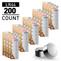 200pcs (20 x Cards) AG13 / LR44 1.5V Alkaline Button Cells