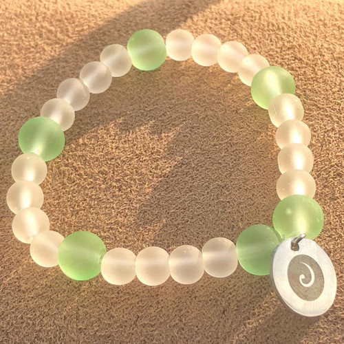 Koru Sea Glass Bracelet