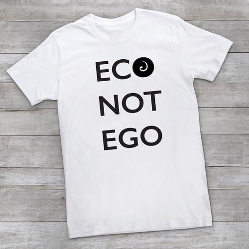 ECO NOT EGO Organic Cotton Bold Statement Tee