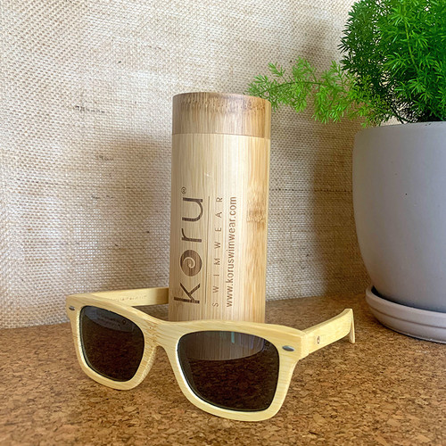 Koru Traveler II Grey Lenses Natural Bamboo Sunnies
