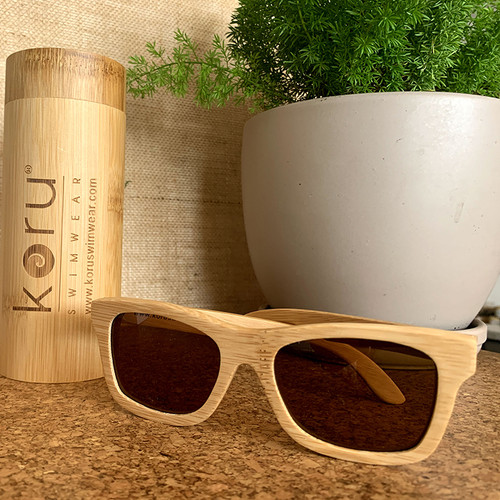 Koru Traveler II Amber Lenses Natural Bamboo Sunnies