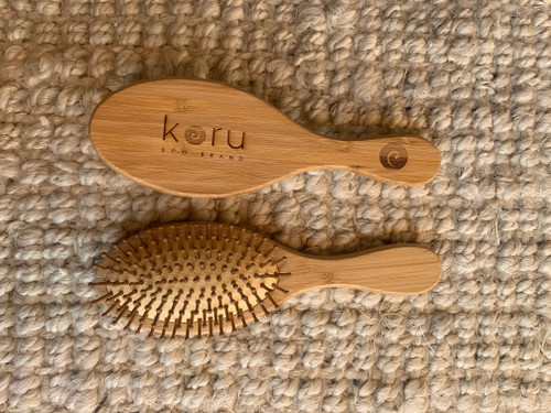 Koru Zero Plastic Bamboo Paddle Hair Brush