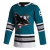 San Jose Sharks Men's Adidas Authentic 30th Anniversary Alternate Jersey Brent Burns