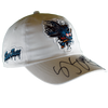 "Sharks ""Shark Freak"" White Strap Back Hat Signed By SJ Sharkie"