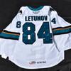 2021 Maxim Letunov CCM Game Worn Barracuda White Away Jersey