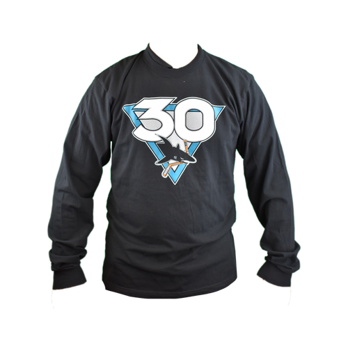San Jose Sharks Men's Graphic Sportswear 30th Anniversary Primary Long Sleeve T-Shirt