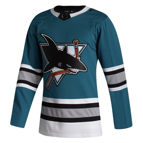 San Jose Sharks Men's Adidas Authentic 30th Anniversary Alternate Jersey