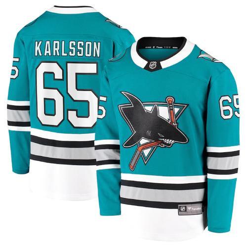 San Jose Sharks Men's Fanatics ALT30 Replica Jersey Erik Karlsson