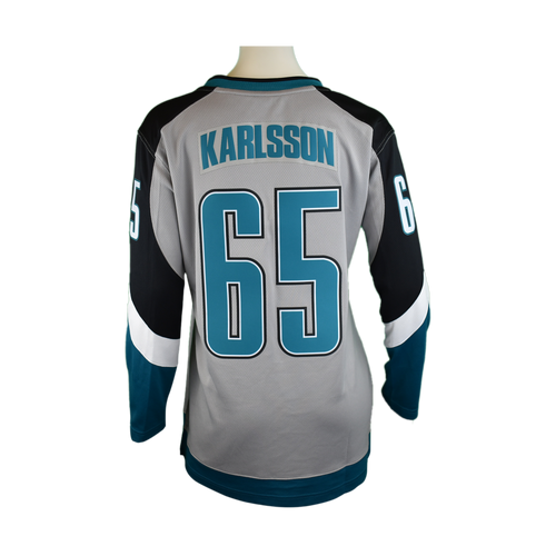 San Jose Sharks Women's Fanatics P31 Replica Jersey Erik Karlsson