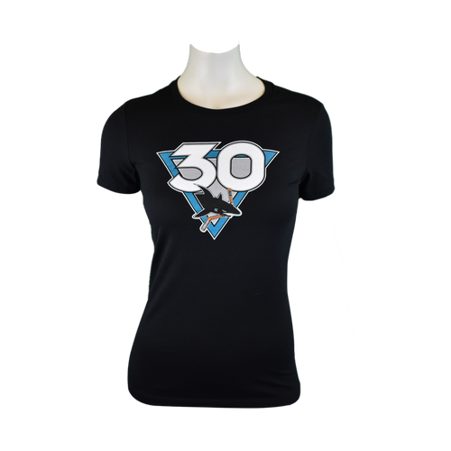 San Jose Sharks Women's Graphic Sportswear 30th Anniversary Primary T-Shirt