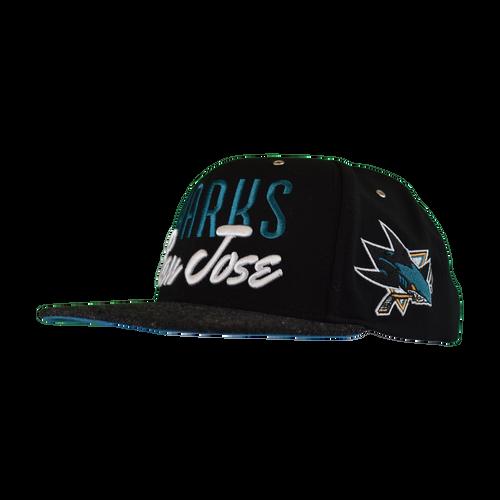San Jose Sharks Men's  CCM Vintage Wool Snapback Hat