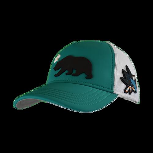 San Jose Sharks Men's  American Needle Flag Trucker Adjustable Hat