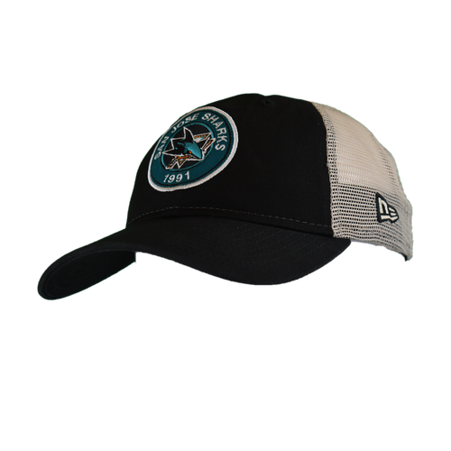 San Jose Sharks Men's  New Era Established Circle 9Twenty Adjustable Hat