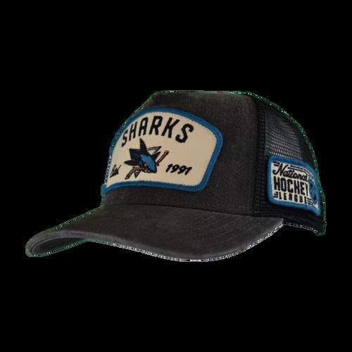 San Jose Sharks Men's  American Needle Bennett Trucker Adjustable Hat