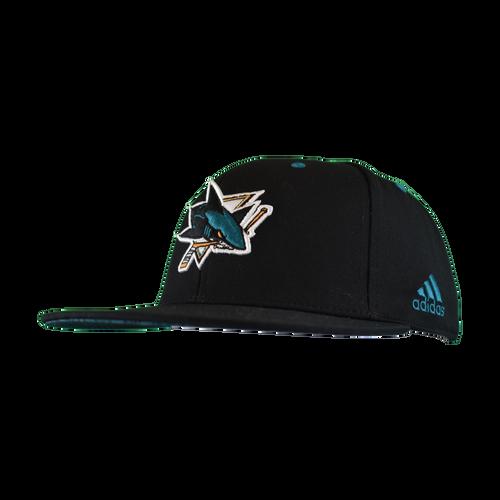 San Jose Sharks Men's Adidas Power Up Flat Brim Snapback Hat