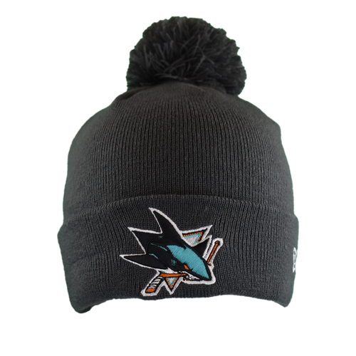 San Jose Sharks Men's  New Era Primary Logo CPK Knit Beanie - Gray