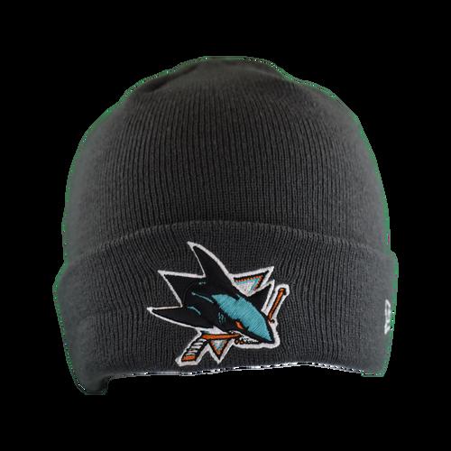 San Jose Sharks Men's  New Era Primary Logo Cuff Knit Beanie