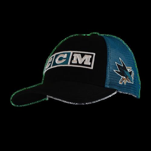 San Jose Sharks Men's  CCM Trucker Adjustable Hat