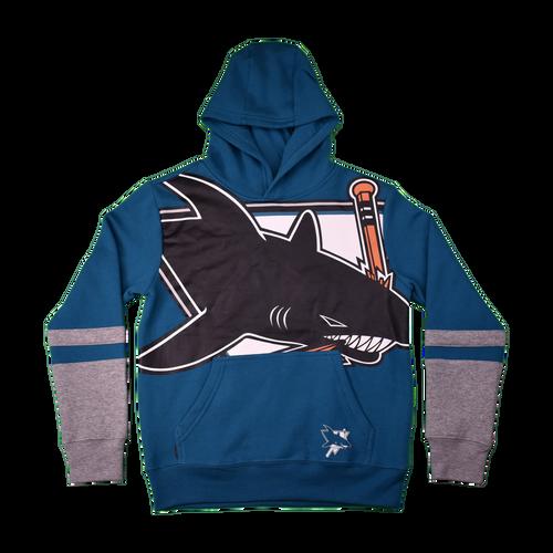San Jose Sharks Youth Outerstuff Big Face Hood