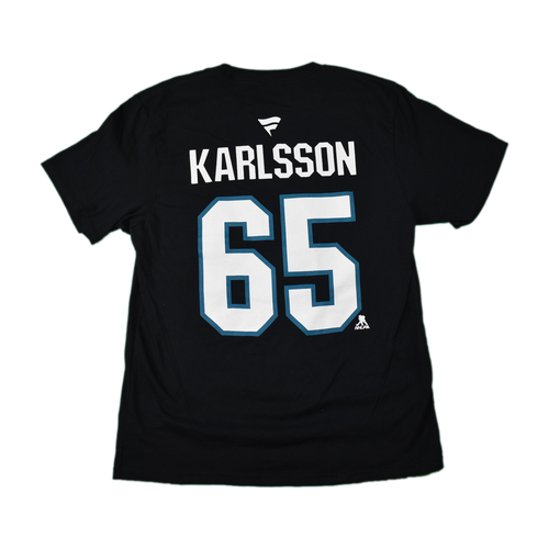 San Jose Sharks Youth Fanatics Erik Karlsson Name and Number T-shirt