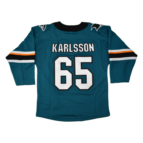 San Jose Sharks Boys Outerstuff Home Jersey - Erik Karlsson
