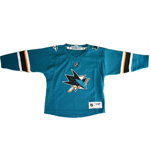 San Jose Sharks Toddler Outerstuff  Home Jersey