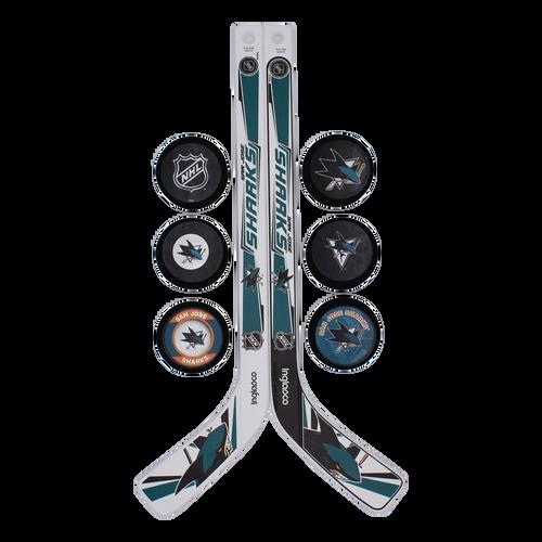 San Jose Sharks Inglasco Inc. Puck and Stick Set