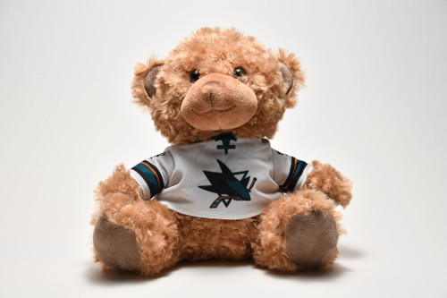 """San Jose Sharks Forever Collectibles 10"""" Jersey Bear"""