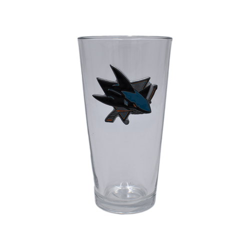 San Jose Sharks Blast Pint Glass