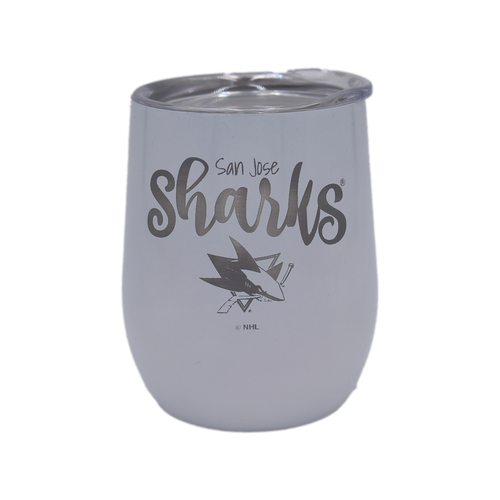 San Jose Sharks Diamond Wine Tumbler - White