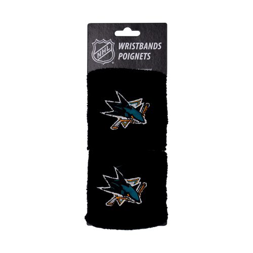 "San Jose Sharks Franklin Sports 2.5"" Wristbands"