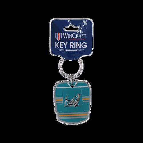 San Jose Barracuda Wincraft Premium Acrylic Jersey Keychain