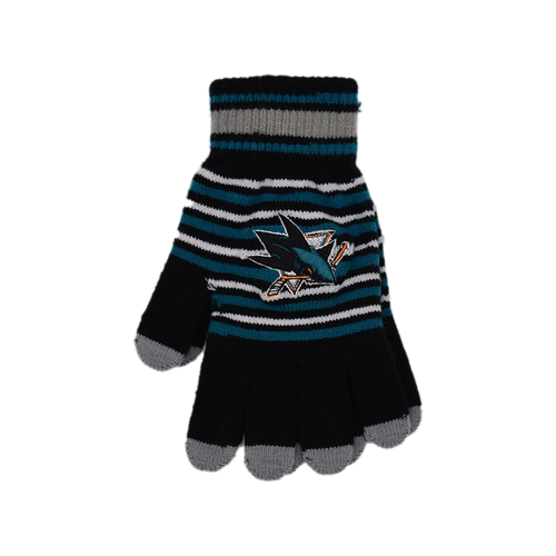 San Jose Sharks Forever Collectibles  Acrylic Stripe Gloves