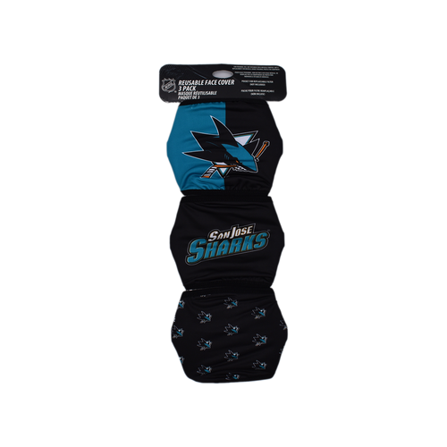 San Jose Sharks Forever Collectibles Face Cover 3pk