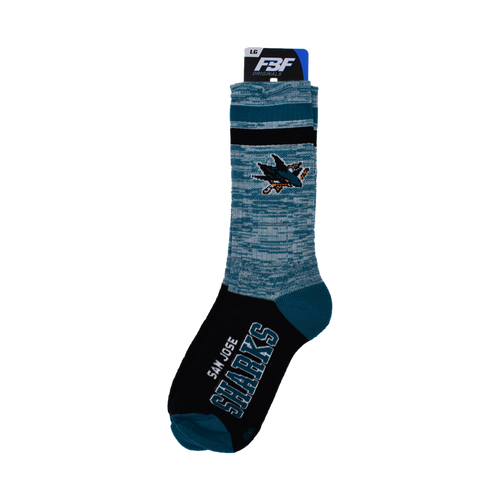 San Jose Sharks For Bare Feet Retro Deuce Sock-L