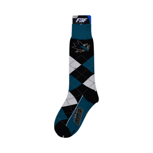 San Jose Sharks For Bare Feet Argyle LineUp-OSFM